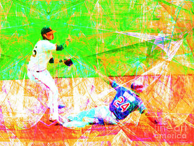 New York Yankees Digital Art - The Boys Of Summer 5d28208 The Double Play by Wingsdomain Art and Photography
