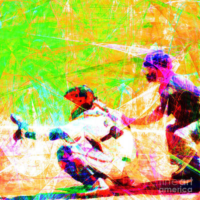The Boys Of Summer 5d28228 The Catcher Square Art Print by Wingsdomain Art and Photography