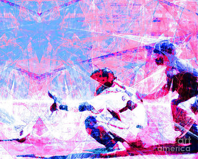 New York Baseball Parks Photograph - The Boys Of Summer 5d28228 The Catcher V3 by Wingsdomain Art and Photography