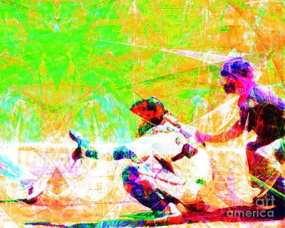 New York Baseball Parks Photograph - The Boys Of Summer 5d28228 The Catcher by Wingsdomain Art and Photography