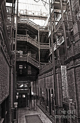 The Bradbury Building Art Print by Gregory Dyer