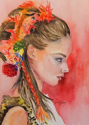 The Braid Is The Thing Art Print by Paula Day