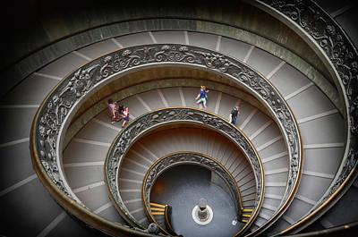 The Bramante Staircase In Vatican Art Print by Dragos Cosmin Photos