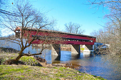 Covered Bridge Digital Art - The Brandywine Creek And Smith's Covered Bridge by Bill Cannon