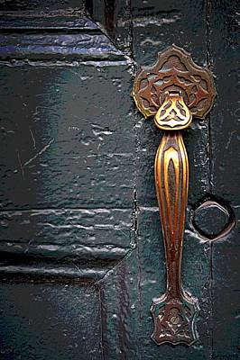 Photograph - The Brass Latch by Nadalyn Larsen