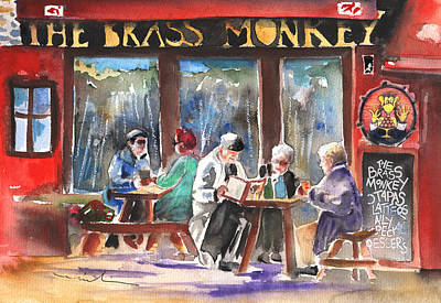 Painting - The Brass Monkey In Howth by Miki De Goodaboom
