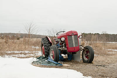 Colorful Photograph - The Brave Little Tractor by Eugene Bergeron