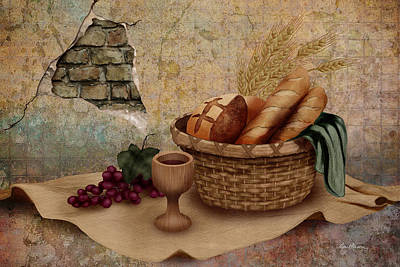 Baskets Digital Art - The Bread Of Life by April Moen