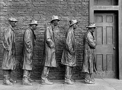 Photograph - The Breadline By George Segal by Allen Beatty