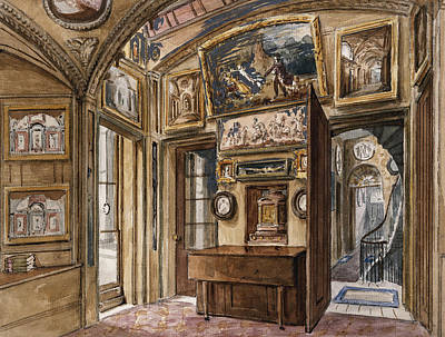 Staircase Painting - The Breakfast Room by Charles James Richardson
