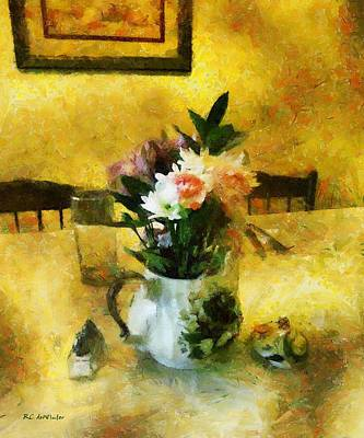 Teapot Painting - The Breakfast Table by RC deWinter
