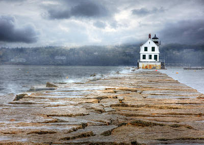 The Breakwater Lighthouse Print by Lori Deiter