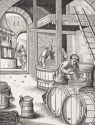 Fermentation Drawing - The Brewer by French School