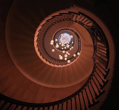 Nautilus Photograph - The Brewer Staircase by Ursula Rodgers