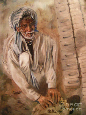 Painting - The Brick Maker by Sharon Burger