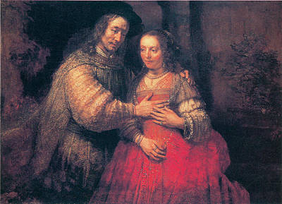 Husband And Wife Painting - The Bridal Couple by Rembrandt Van Rihn
