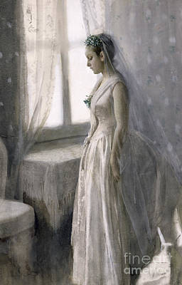 Waiting Girl Painting - The Bride by Anders Leonard Zorn