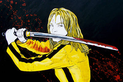 Kill Bill Painting - The Bride At Work by Jack Irons