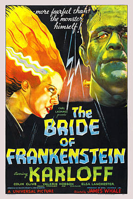 Clive Digital Art - The Bride Of Frankenstein by Universal Picture