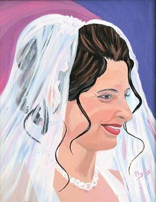 Tendrils Painting - The Bride by Phyllis Kaltenbach