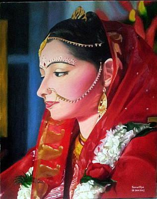 Indian Wedding Painting - The Bride by Somaditya Das