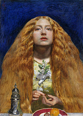 Auburn Painting - The Bridesmaid, 1851 by Sir John Everett Millais