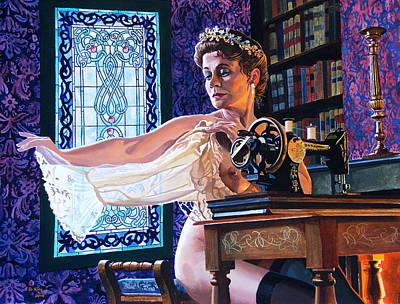 The Bridesmaid Art Print by Jo King