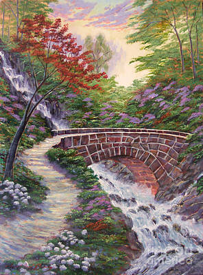 Pathway Painting - The Bridge Across by David Lloyd Glover