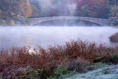 Berea Wall Art - Photograph - The Bridge At Baldwin Lake by John Harmon