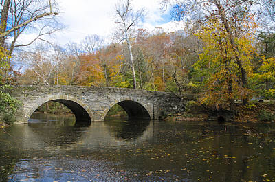 Phillies Photograph - The Bridge At Bells Mill by Bill Cannon