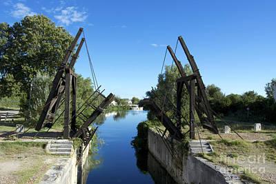 The Bridge At Langlois Painted By Van Gogh. Arles. France Art Print by Bernard Jaubert