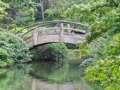 The Bridge At The Japanese Gardens In Fort Worth Texas Art Print by Shawn Hughes