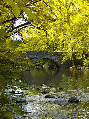 Wissahickon Photograph - The Bridge At Valley Green by Bill Cannon
