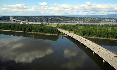 Photograph - Oregon Bridge From Above by Bob Slitzan