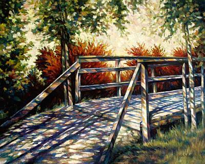 Texture Painting - The Bridge by Guo Quan Zheng