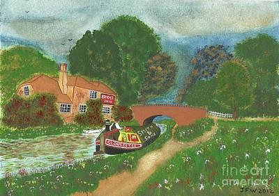 The Bridge Inn Art Print by John Williams