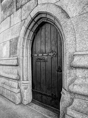 Mystery Door Photograph - The Bridge Master's Door Tower Bridge In Black And White by Gill Billington