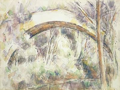 Post-impressionist Photograph - The Bridge Of Trois-sautets, C.1906 Wc & Pencil On Paper by Paul Cezanne