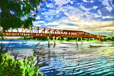 Art Print featuring the photograph The Bridge by Yew Kwang