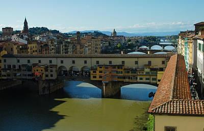 Photograph - The Bridges Of Florence Italy by Georgia Mizuleva