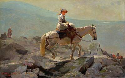 Winslow Digital Art - The Bridle Path White Mountains by Winslow Homer