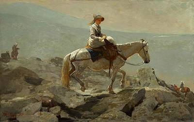 Winslow Homer Painting - The Bridle Path.white Mountains by Winslow Homer