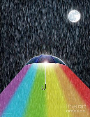 Rain Digital Art - The Bright Side by Cristophers Dream Artistry