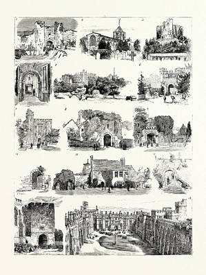 Arundel Castle Drawing - The British Archeological Association At Brighton by English School