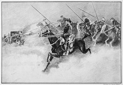 The British Cavalry In Action As Late Art Print by Mary Evans Picture Library