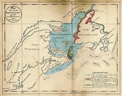 Nova Scotia Drawing - The British North American Colonies. Letters To  E by Litz Collection