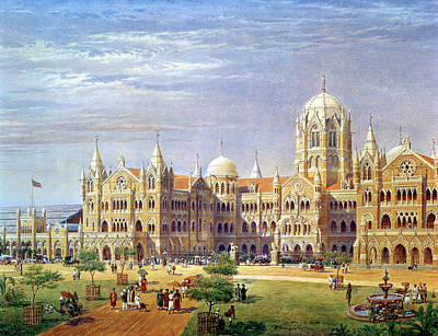Bombay Photograph - The British Raj Great Indian Peninsular Terminus Wc On Paper by Axel Haig