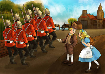 The British Soldiers Art Print by Reynold Jay