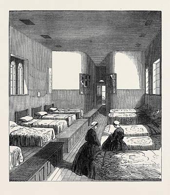 Broadmoor Drawing - The Broadmoor Criminal Lunatic Asylum Female Dormitory Uk by English School
