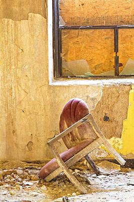 The Broken Chair Art Print by Carolyn Fox